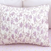 Lilac Arpege Smocked Decorative Boudoir Pillow in Lilac Laurent
