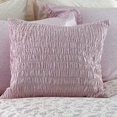 Lilac Arpege Smocked Decorative Pillow in Lilac Laurent