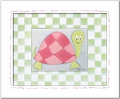 Lilly Turtle Custom Framed Giclee Print
