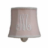 Linen Initial Night Light