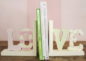 LOVE Wooden Bookends