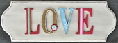 Love Wooden Letter Wall Plaque