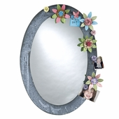 Magnetic Metal Oval Mirror