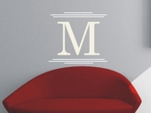 Majestic Initial Custom Personalized Wall Decal