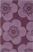Mauve Flowers Aimee Wilder Hand-Tufted Rug