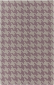 Mauve Houndstooth Frontier Hand-Woven Indoor/Outdoor Rug