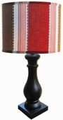 Maxwell Shade with Black Column Lamp