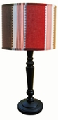 Maxwell Shade with Black Spindle Lamp