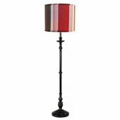Maxwell Shade with Black or White Metal Floor Lamp