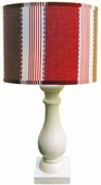 Maxwell Shade with Eggshell Column Lamp