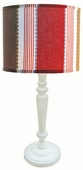 Maxwell Shade with White Spindle Lamp