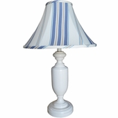 Maxwell Stripe Blue Medium Urn Lamp