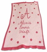 Mini Polka Dots Personalized Blanket