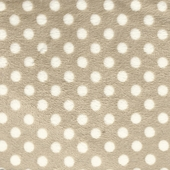 Minky Smooth Fawn Polka Dot Fabric