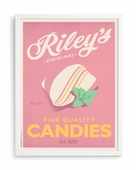 Mint Candies Custom Framed Art