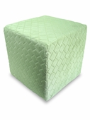 Mint Check Minky Foam Block