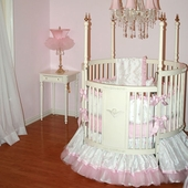 Miss Princess Round Crib Bedding