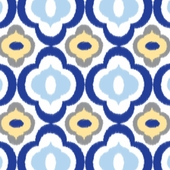 Mod Blue Fitted Crib Sheet