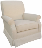 Monaco Vanilla Adult Club Glider Rocker Chair - Foam or Down