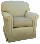 Monaco Vanilla Adult Continental Glider Rocker Chair - Foam or Down