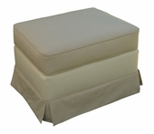 Monaco Vanilla Adult Continental Ottoman - Stationary or Glider