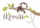 Monkey Branch Personalized Wall Decal
