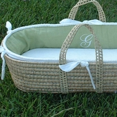 Monogram Moses Basket