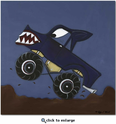 Monster Truck Gallery Wrapped Stretched Giclee Canvas