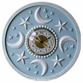 Moon and Stars Wall Clock