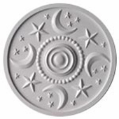 Moon and Stars Wall Plaque