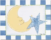 Moon & Star Gallery Wrapped Stretched Giclee Canvas