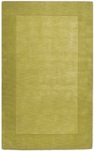 Moss Green Border Mystique Hand-Crafted Rug