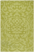 Moss Green Damask Mystique Hand-Crafted Rug