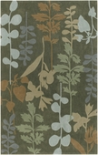 Multi Leaves Cosmopolitan Hand-Tufted Rug