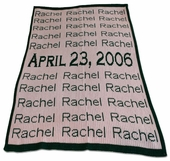 Name Repeat Personalized Blanket
