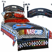 NASCAR Twin Iron Headboard
