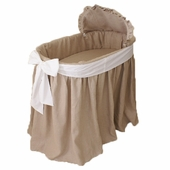 Natural Bassinet with White Bow