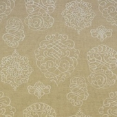 Natural Scroll Fabric