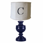 Nautical Matelasse Monogram Classic Urn Lamp