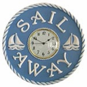 Nautical Sailboats Wall Clock