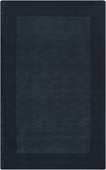 Navy Blue Border Mystique Hand-Crafted Rug