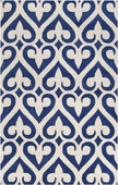 Navy Blue Spades Zuna Hand-Tufted Rug