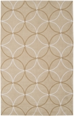 Neutral Circles Cosmopolitan Hand-Tufted Rug