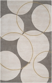 Neutral Circles Goa Hand-Tufted Rug