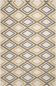 Neutral Diamonds Frontier Hand-Woven Rug