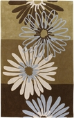 Neutral Flowers Cosmopolitan Hand-Tufted Rug