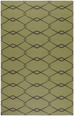Olive Green Diamonds Fallon Hand-Woven Rug