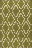 Olive Green Fancy Diamond Fallon Hand-Woven Rug