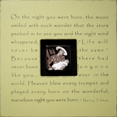 On the Night You Were Born Photobox Frame