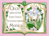 Once Upon a Time Storybook in Pink Canvas Wall Art